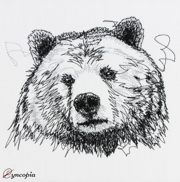 Embroidery Design Bear Scribble