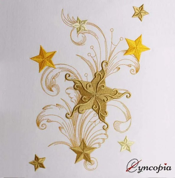 Embroidery Design Star Ornament Baroque