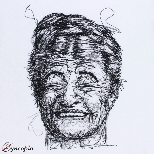 Embroidery Design Funny Woman scribble