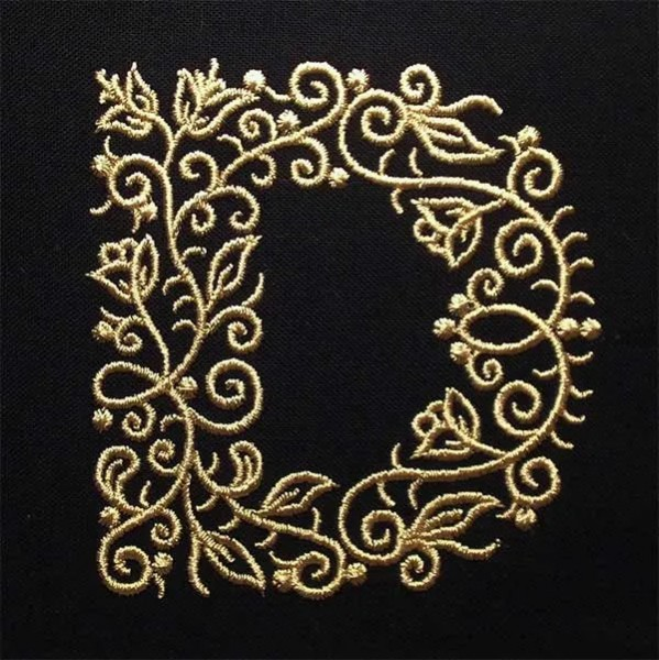 Embroidery Design D Fine Ornament