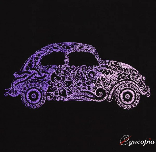 Embroidery Design Beetle Car Zendoodle