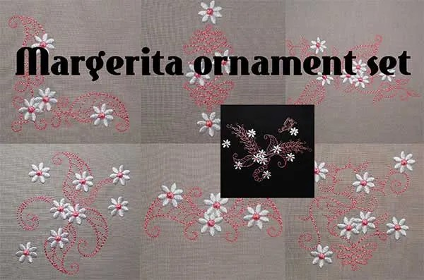 Margerita Ornament Set
