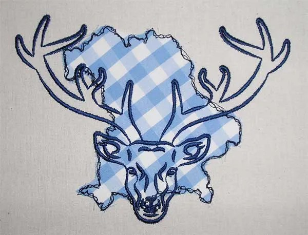 Embroidery Design Deer in Bavaria Doodle