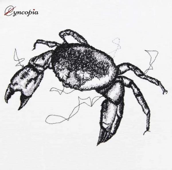 Embroidery Design Crustacean scribble