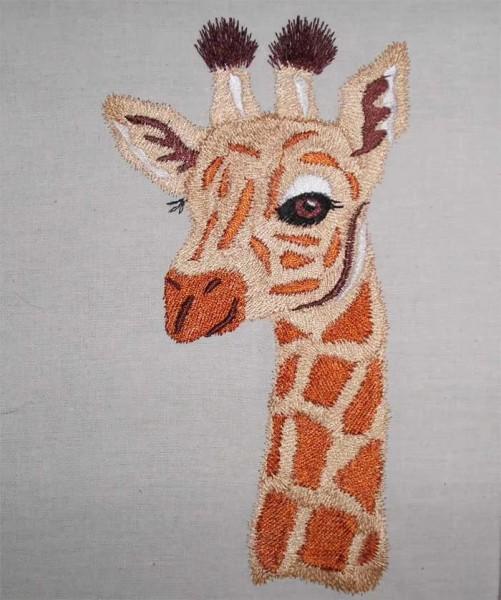 Embroidery Design Giraffe