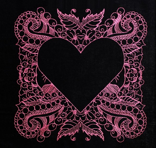 Embroidery Design Heart invers Zendoodle