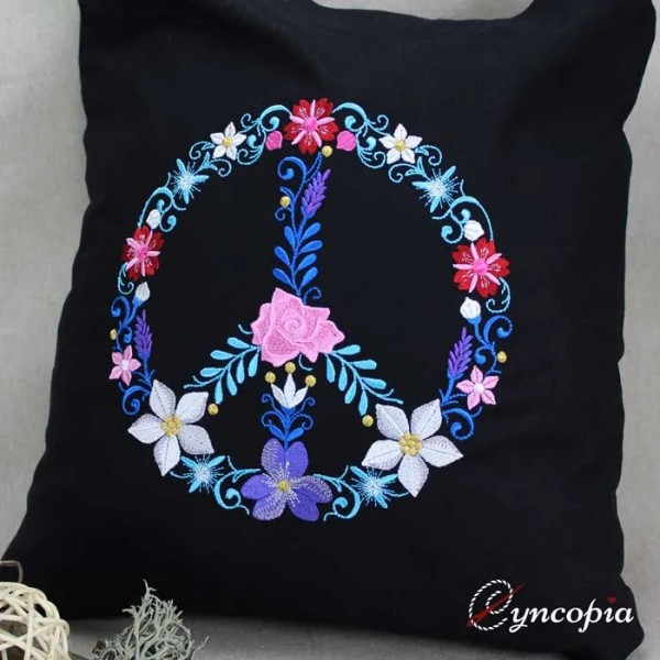 Embroidery Design Flower Ornament Peace
