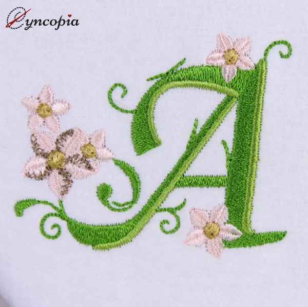 Motif de Broderie l'Alphabet des Marguerites A