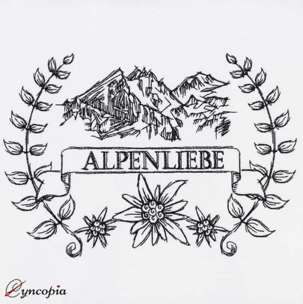 Embroidery Design Alpenliebe Embleme