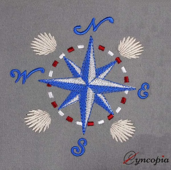 Embroidery Design Windrose Shell