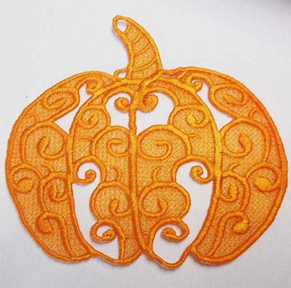 Embroidery Design Pumpkin Lace