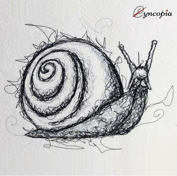 Embroidery Design Snail scribble