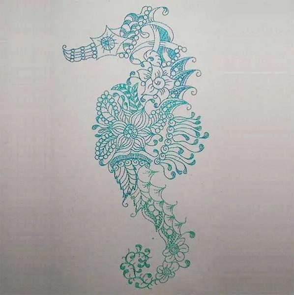 Fichier Broderie Hippocampes zendoodle