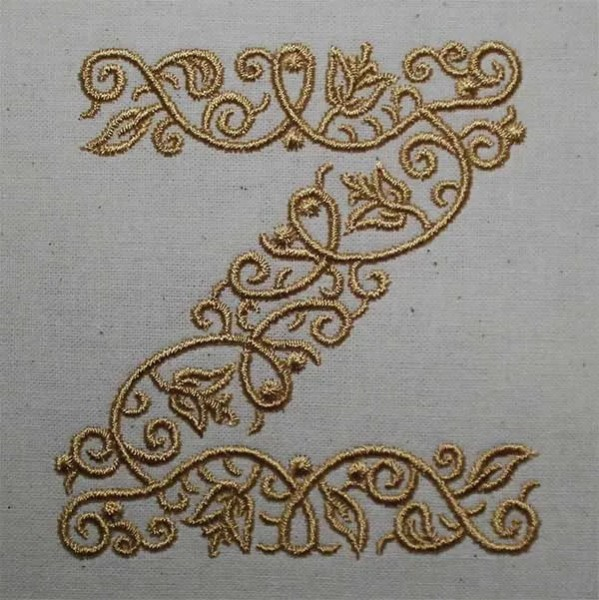 Embroidery Design Z Fine Ornament
