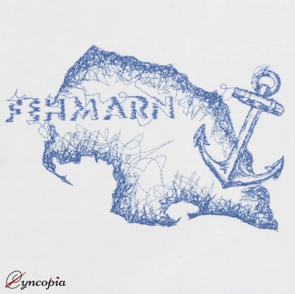 Embroidery Design Fehmarn Anchor Scribble