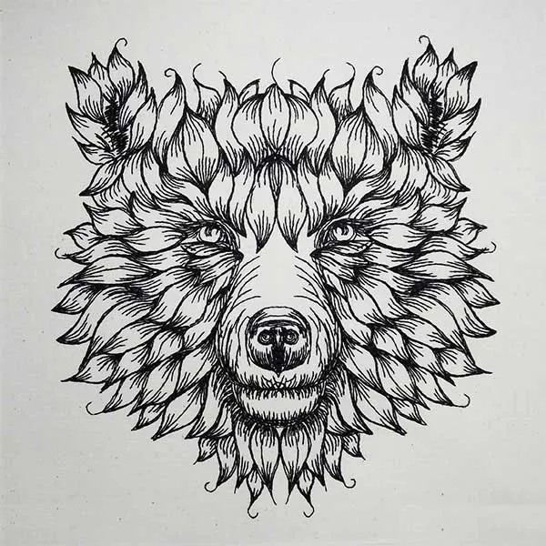 Embroidery Design Furled Bear