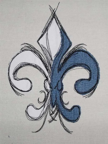Embroidery Design French Lilly Doodle