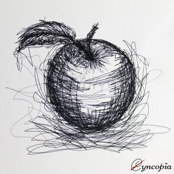 Embroidery Design Apple Scribble