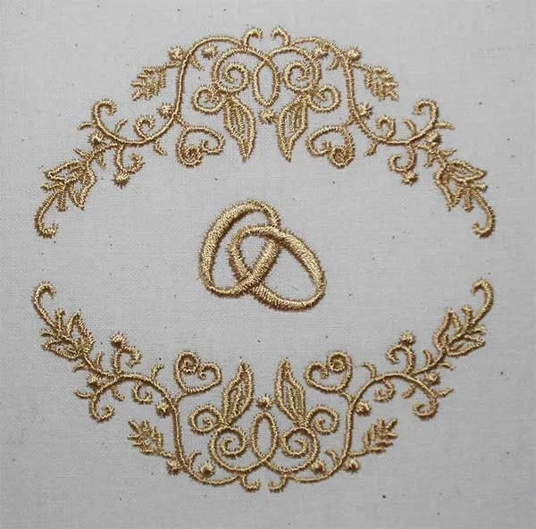 Embroidery Design Wedding Fine Ornament