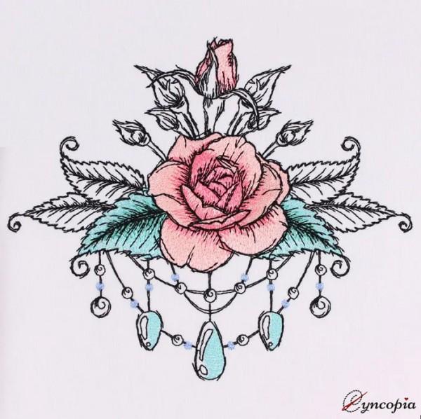 Fichier Broderie Rose Romantique No. 10