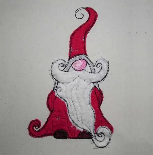 Stickdatei Weihnachtsgnom Doodle