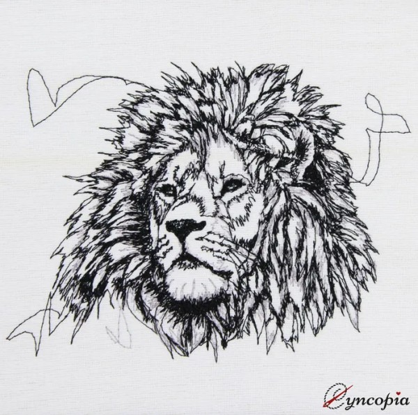 Embroidery Design Lion scribble