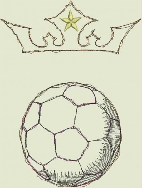Fichier Broderie Roi football doodle