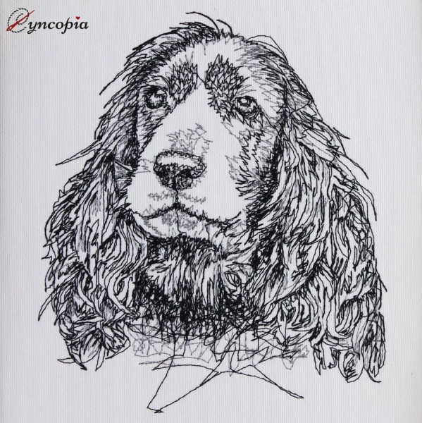 Embroidery Design Cocker Spaniel Scribble