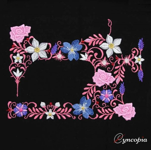 Embroidery Design Flower Ornament Sewing Machine