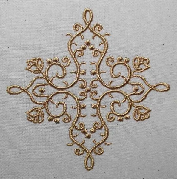 Embroidery Design 3 Fine Ornament