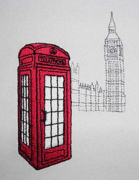 Fichier Broderie British Phonebox