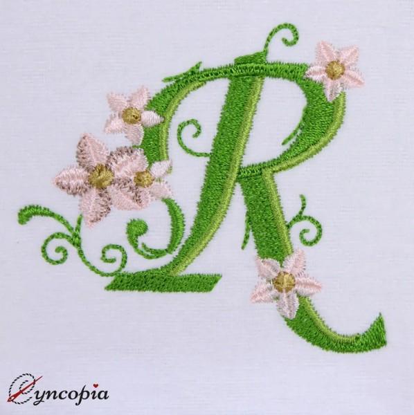 Embroidery Design Marguerites Alphabeth R