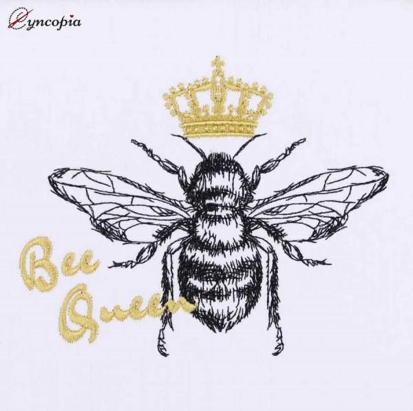 Motif de Broderie Bee Queen Abeilles