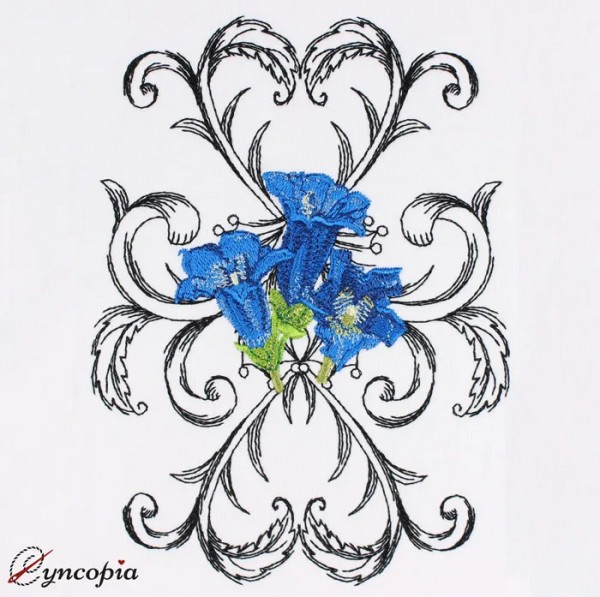 Embroidery Design Gentian Baroque