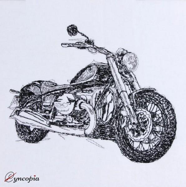 Stickdatei Motorrad scribble