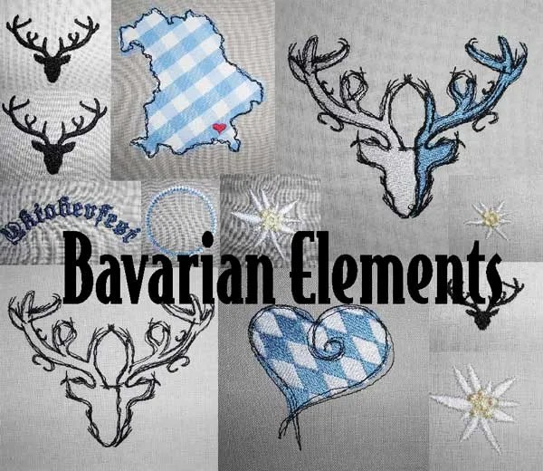 Embroidery Design Bavarian Elements Set