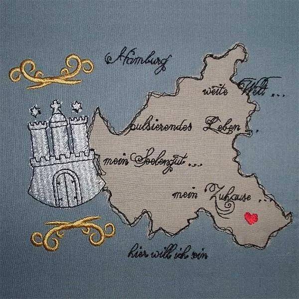 Embroidery Design Hamburg Doodle