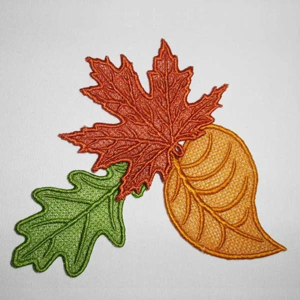 Embroidery Design Autumn Leaves Lace