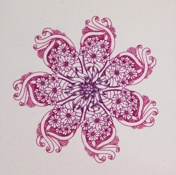 Embroidery Design Flower Fantasy Zendoodle