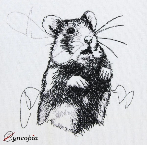 Embroidery Design Hamster scribble