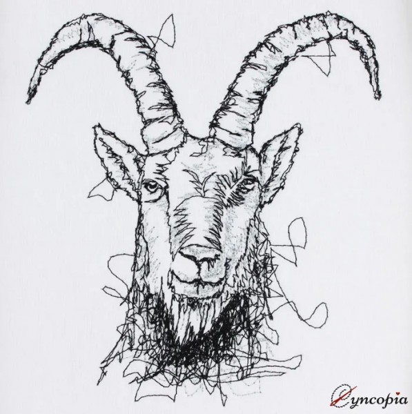 Embroidery Design Capricorn Scribble