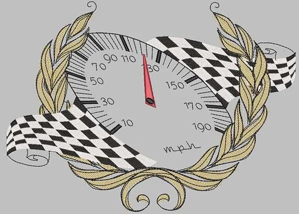 Embroidery Design Speedo racing