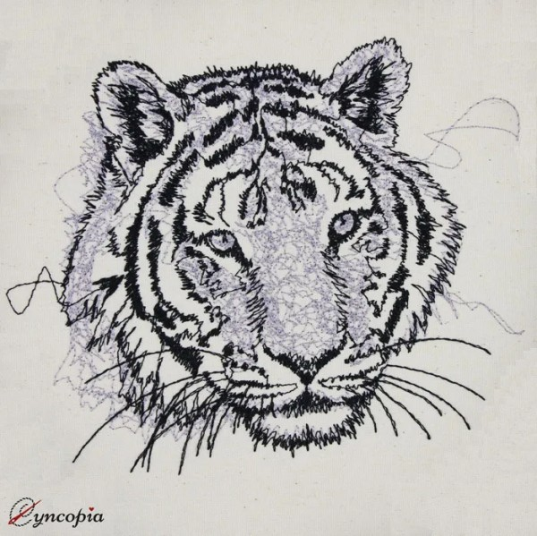 Embroidery Design Tiger scribble