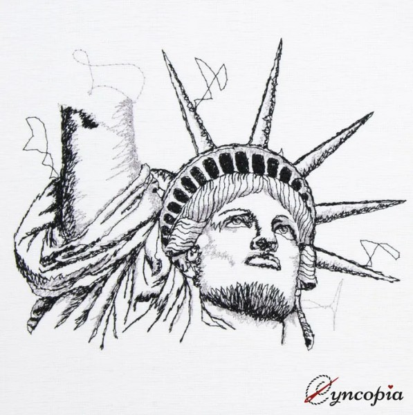 Embroidery Design Statue of Liberty scribble