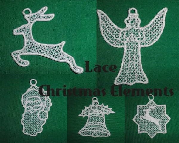 Embroidery Design Christmas Elements Lace Set