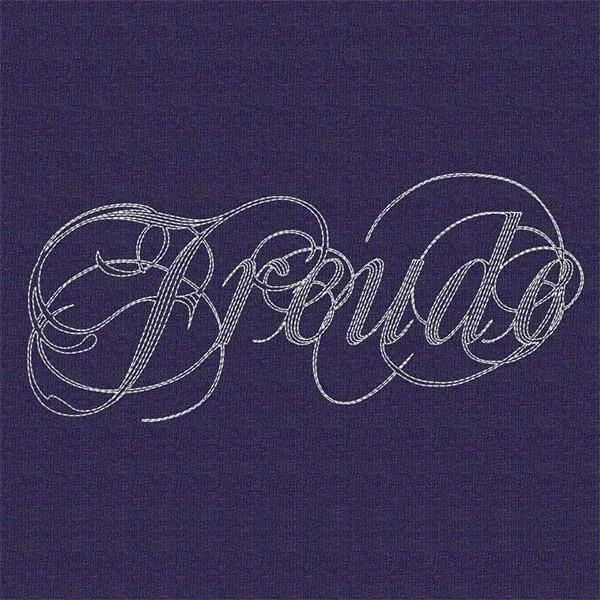 Embroidery Design Freude Lettering Set