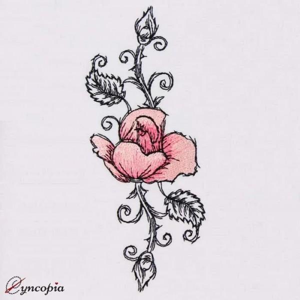 Stickdatei Rose Romantic No 5