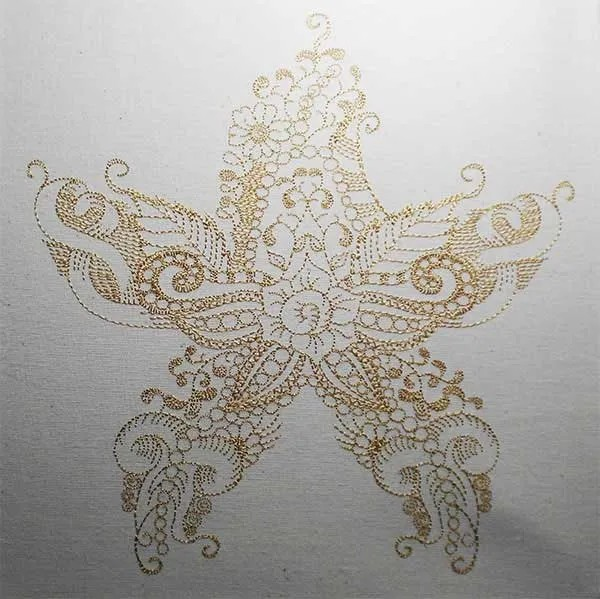 Embroidery Design Starfish Zendoodle