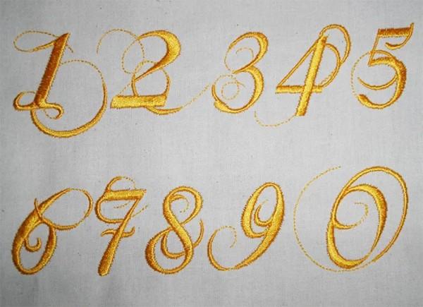 Stickdateien Adventskalender Ziffern und Nummern