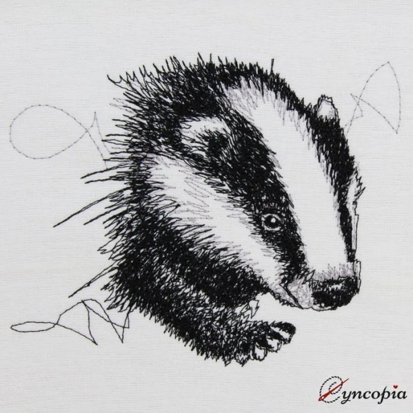 Embroidery Design Badger scribble